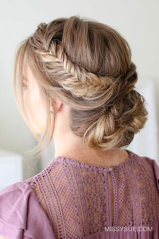 Draped Fishtail Updo