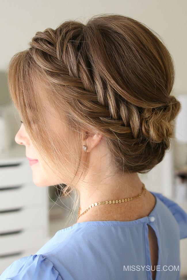 Tucked Fishtail Braid Updo | Fsetyt com