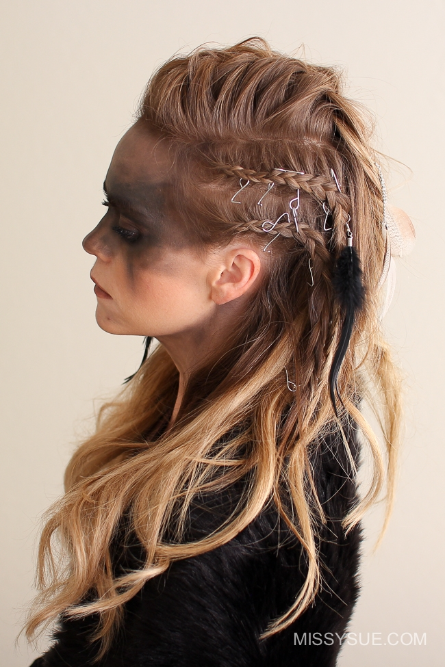Viking Warrior Halloween Hairstyle