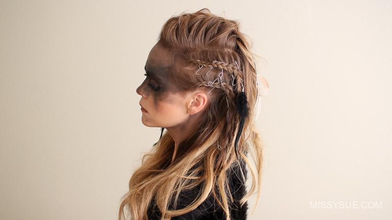 viking warrior halloween hairstyle missy sue