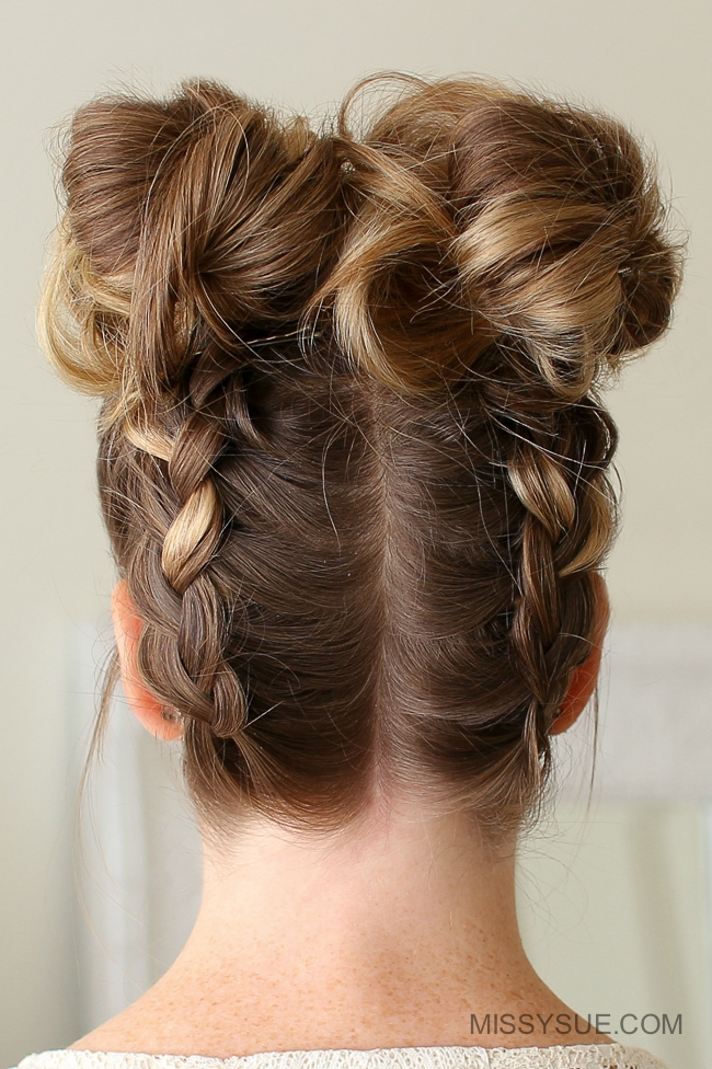 Double Dutch Braid High Buns | MISSY SUE