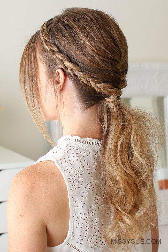 Fishtail and Dutch Braid Ponytail