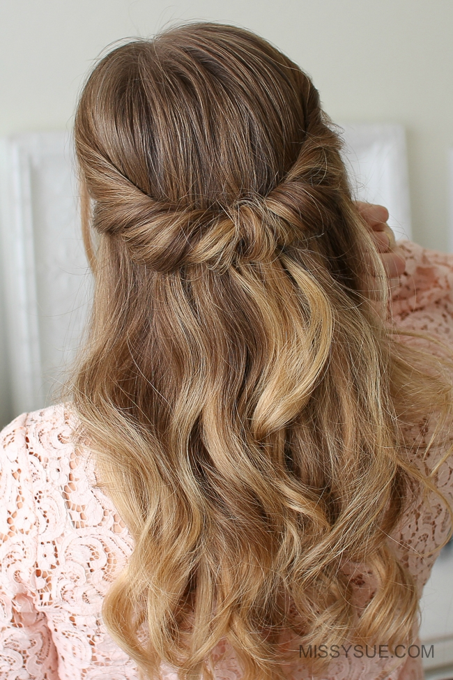 Looped Half Updo