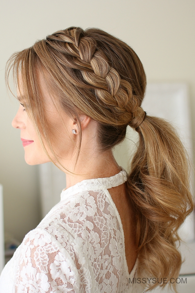 simple hair braid styles lace braid ponytail fsetyt 2008