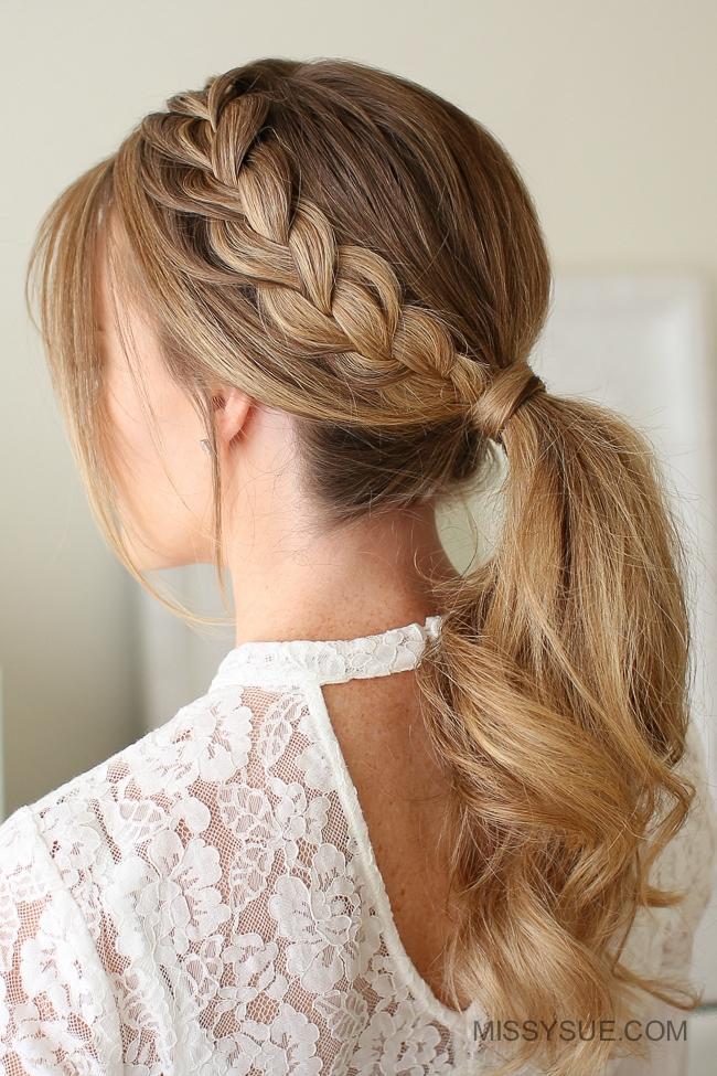 Lace Braid Ponytail