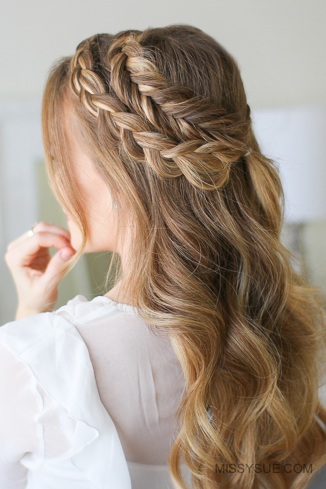 Mixed Fishtail and Dutch Fishtail Braid 3 Ways
