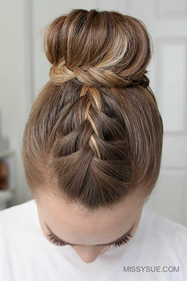 French Lace Fishtail High Bun Missy Sue