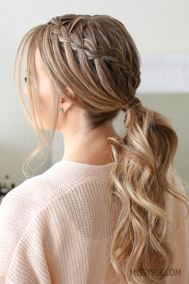 Double Waterfall Ponytail