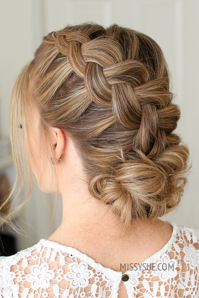 Dutch Braid and Low Bun