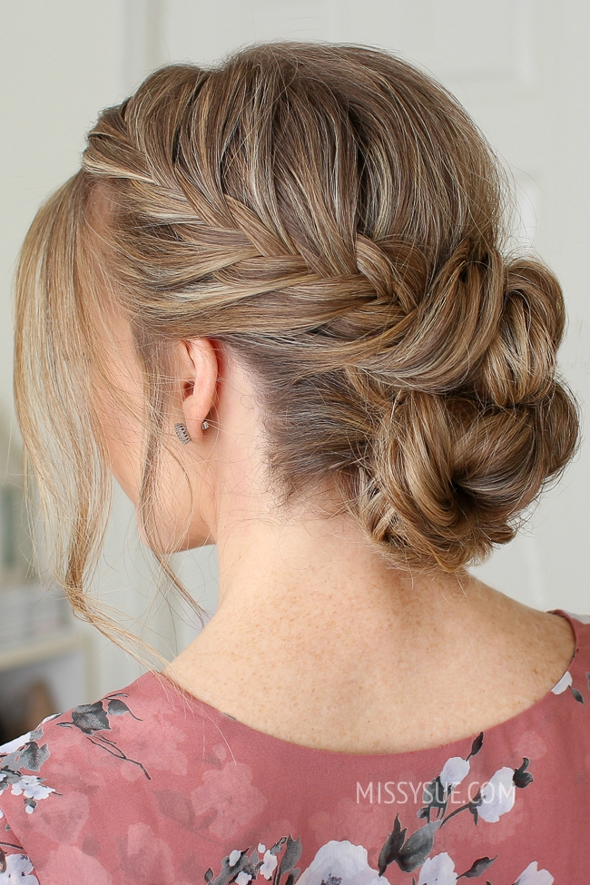 Fishtail French Braid Double Bun