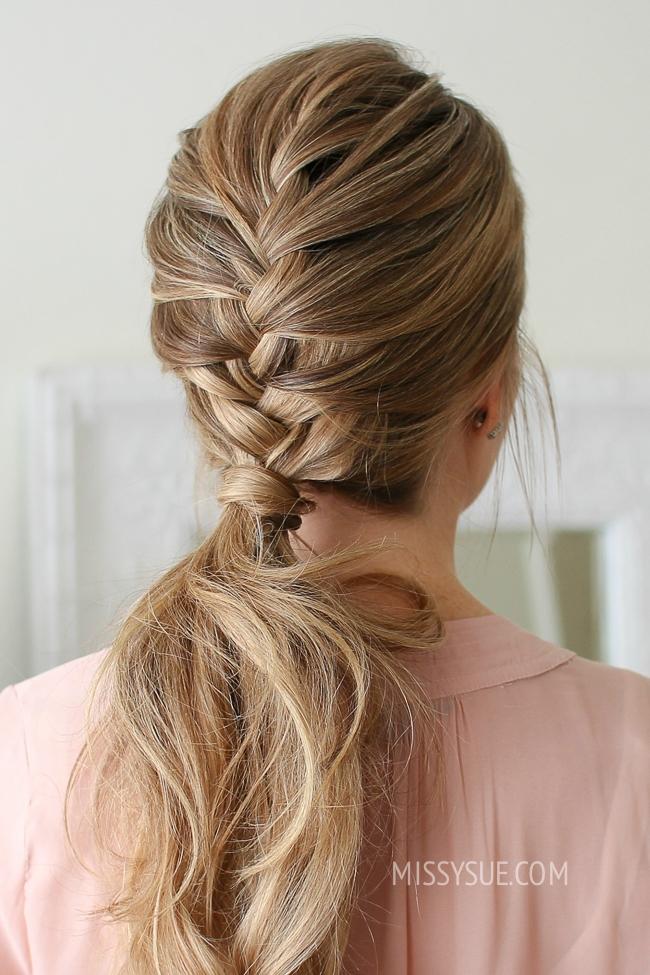 French Braid Ponytail Missy Sue