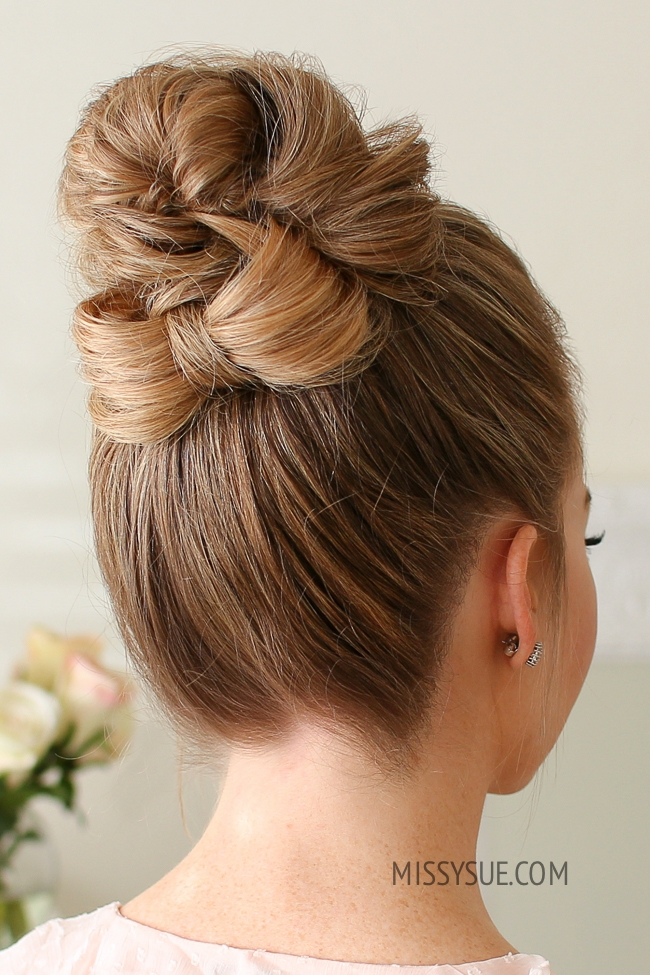 High Bun Bow Accent