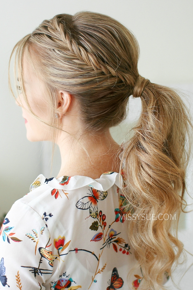 Double Lace Fishtail Ponytail