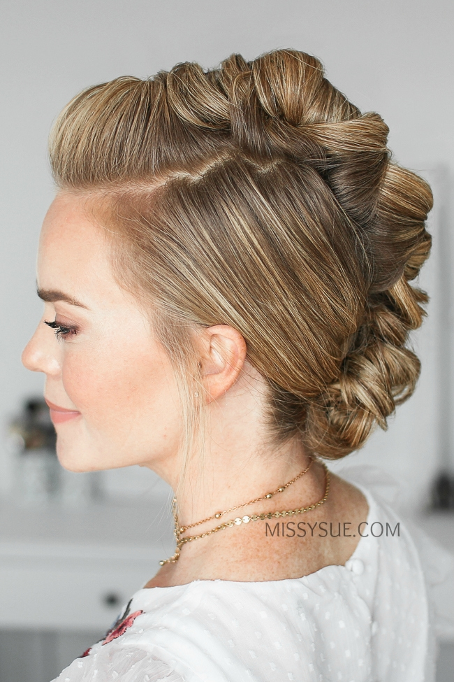 Wrapped Mohawk Updo