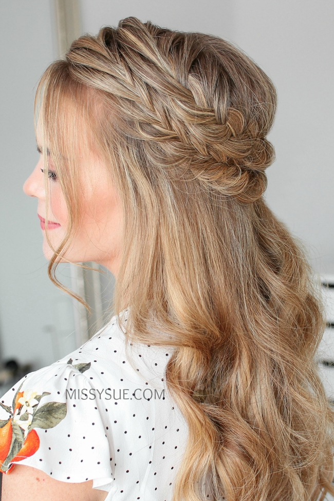 Half Up Double Fishtail French Braids