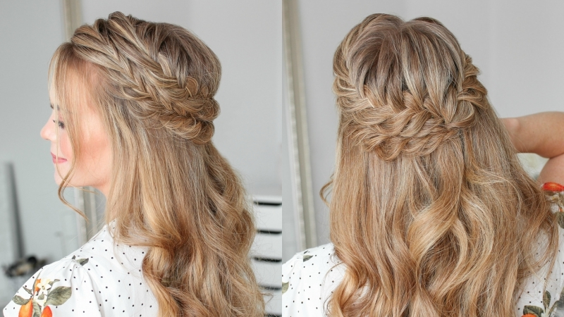 Half Up Double Fishtail French Braids   MISSY SUE