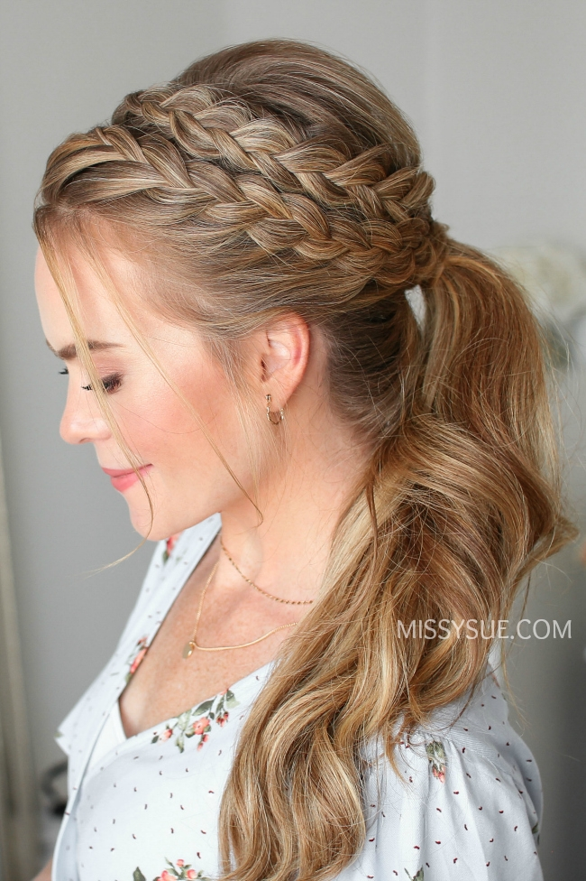 Lace and Dutch Braid Ponytail