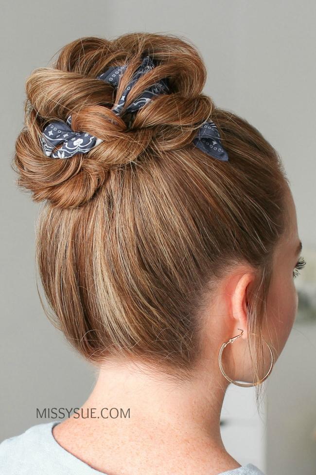 12 Hair Scarf Hairstyles, Back to School | MISSY SUE