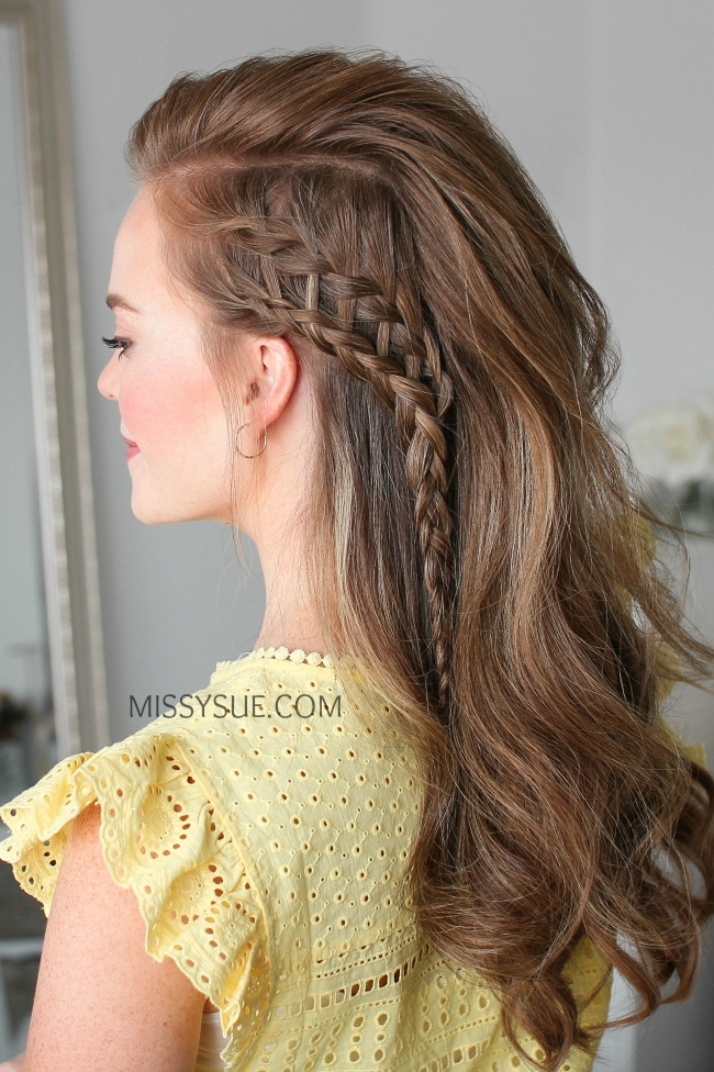 Sideswept Ladder Braid