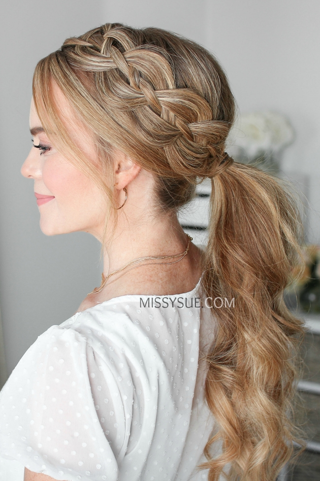 4 Strand Braid Ponytail