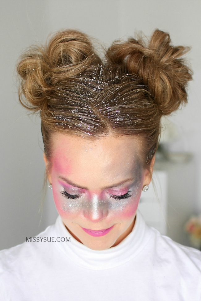 Galaxy Girl Glitter Buns