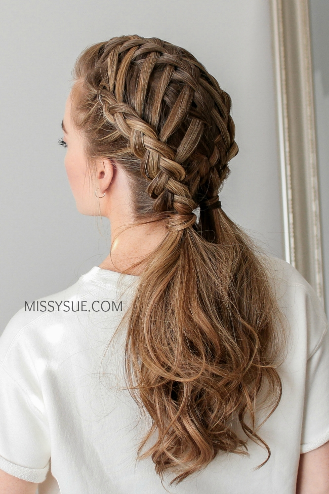 Waterfall Braid & Double Dutch Braids