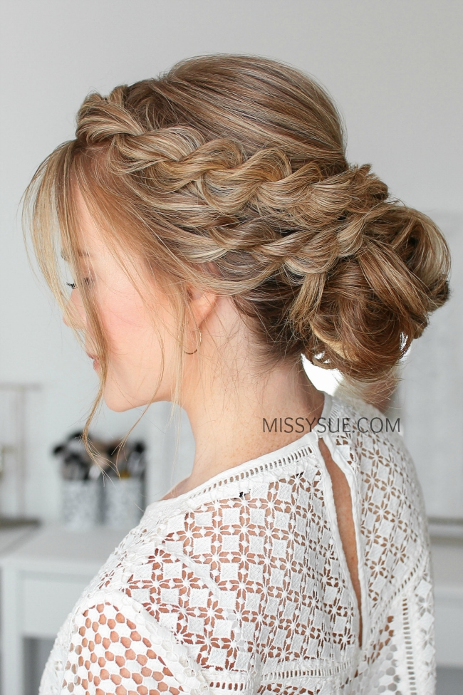 Double Twisted Low Bun