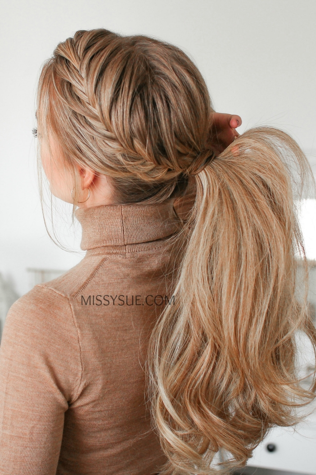 Fishtail French Braid Ponytail