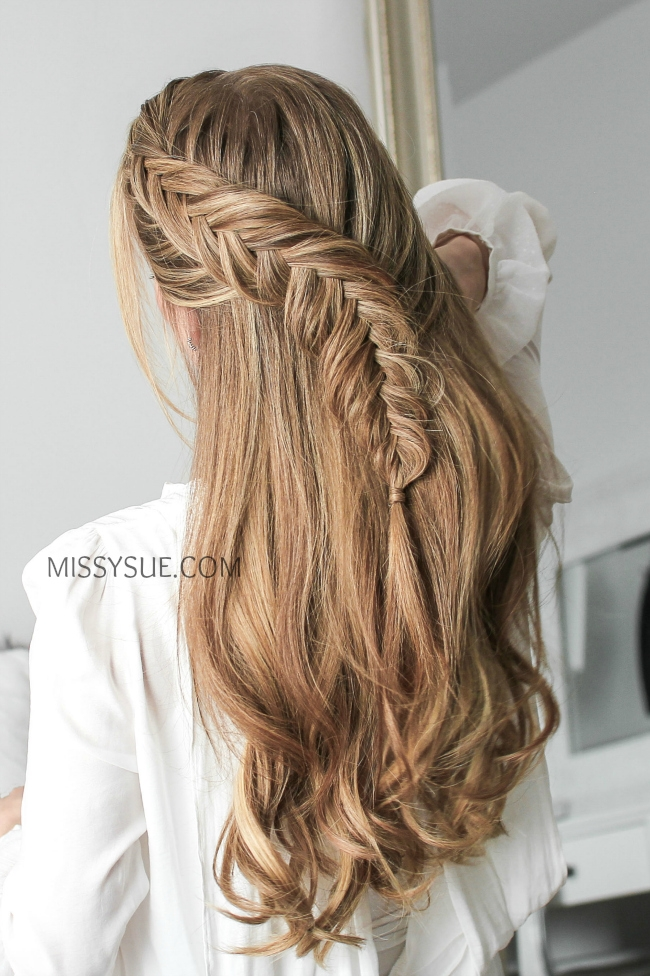 Half Up Dutch Fishtail Braid