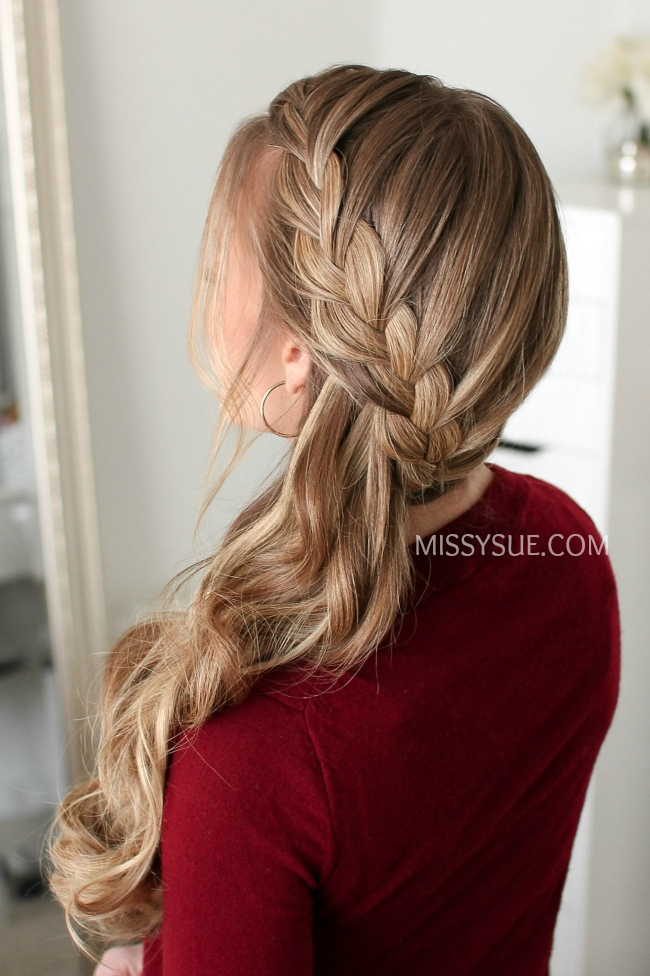 Sideswept French Braid