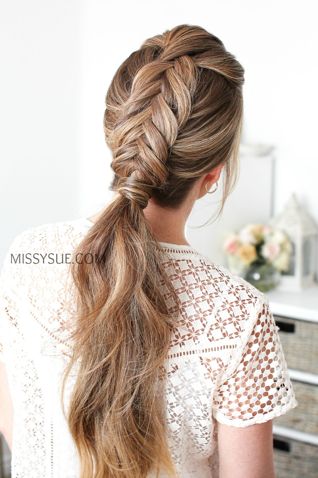 Dutch Fishtail Low Ponytail