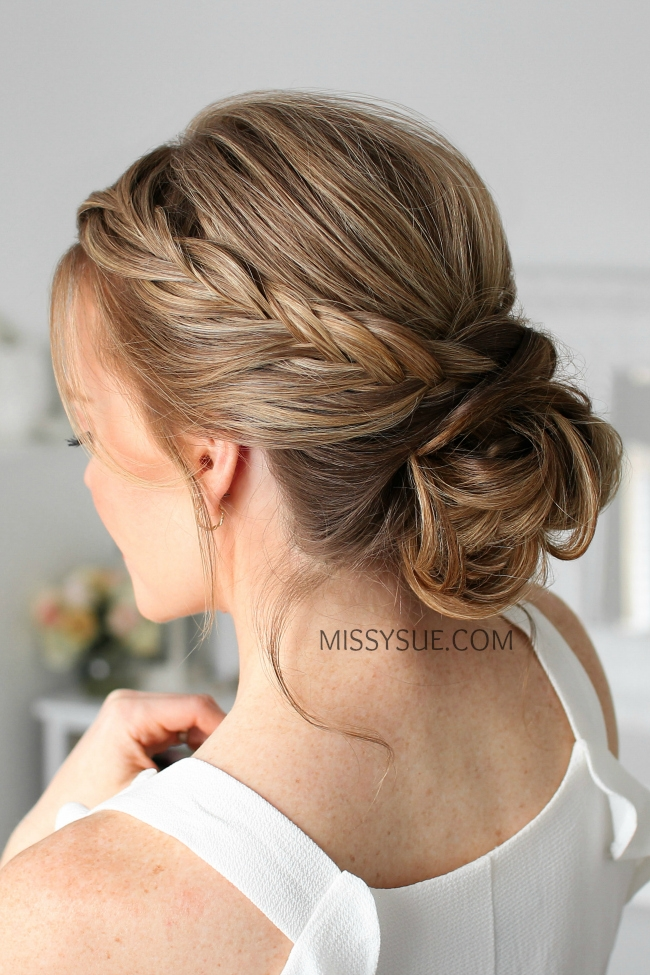 Double Fishtail French Braid Updo